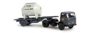 BREKINA 48024 Mercedes-Benz LPS 338 Feinstoffcontainersattelzug DB Aurora LKW-Modell 1:87 kaufen