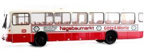 BREKINA 50637 Mercedes O 307 weiss/rot DB Hagebaumarkt | Bus-Modell 1:87 kaufen