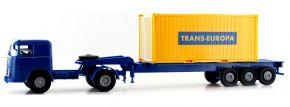 BREKINA 79218 Büssing 20ft Boxcontainer-SZ Trans Europa | LKW-Modell 1:87 kaufen