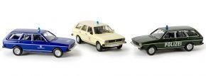 BREKINA 90412 Set Blaulicht mit VW Passat Polizei DRK THW | Automodell Spur H0 1:87 kaufen