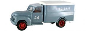 BREKINA 93721 Hanomag L 28 Koffer Eildienst No.44 blaugraue Spedition   LKW-Modell 1:87 kaufen