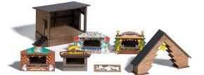 BUSCH 1183 Wald-Weihnachtsmarkt ECHTHOLZ-Bausatz Spur H0 kaufen