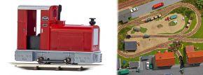 BUSCH 12131 Diesellokomotive Deutz OMZ 122 F rot Feldbahnlok Spur H0f kaufen
