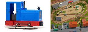 BUSCH 12132 Diesellokomotive Deutz OMZ 122 F blau Feldbahnlok Spur H0f kaufen