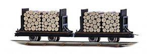 BUSCH 12211 Wagen mit Rundholz 2 Stück Spur H0f kaufen