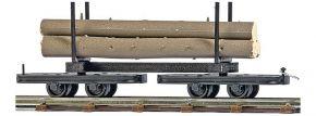 BUSCH 12222 Drehgestell-Rungenwagen mit Baumstämmen Spur H0f kaufen
