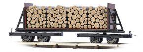 BUSCH 12247 Flachwagen mit Holzladung Feldbahnwagon 1:87 kaufen