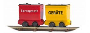 BUSCH 12261 Loren Geräte und Sprengstoff 2 Stück Feldbahnwaggons Spur H0f kaufen