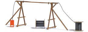 BUSCH 1375 Kabelbrücke mit Baustromverteiler Bausatz Spur H0 kaufen