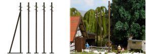 BUSCH 1569 Freileitungsmasten ECHTHOLZ-Bausatz Spur H0 kaufen