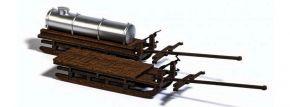 BUSCH 1631 Transportschlitten aus Echtholz 2 Stück LaserCut Bausatz Spur H0 kaufen