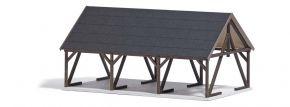 BUSCH 1677 Holzlager mit Zubehör LaserCut Bausatz aus Echtholz 1:87 kaufen
