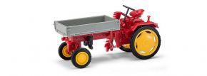 BUSCH 210005000 Traktor RS09 mit Pritsche und Mähbalken Landwirtschaftsmodell 1:87 kaufen