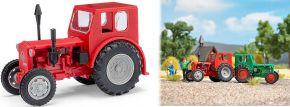 BUSCH Mehlhose 210006403 Traktor Pionier rot mit grauen Felgen Landwirtschaftsmodell 1:87 kaufen