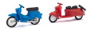 BUSCH 210008902 Berliner Roller Schwalbe rot u blau 2 Stück Bausatz Spur H0 kaufen