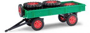 BUSCH Mehlhose 210010201 Anhänger T4 mit Ladung grün Landwirtschaftsmodell 1:87 kaufen