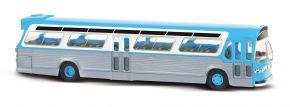 BUSCH 44513 US Bus Fishbowl blau mit Schilder Busmodell 1:87 kaufen