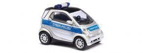 BUSCH 46149 Smart Fortwo 2007 Cyber-Polizei Blaulichtmodell 1:87 kaufen