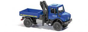BUSCH 51027 Mercedes-Benz Unimog U5023  mit Kran THW  Blaulichtmodell 1:87 kaufen