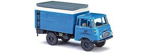 BUSCH 51606 Robur LO 1800A Blaue Post Studiotechnik Fernsehen LKW-Modell 1:87 kaufen
