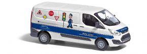 BUSCH 52415 Ford Transit Custom Polizei Verkehrssicherheitsberatung Automodell 1:87 kaufen