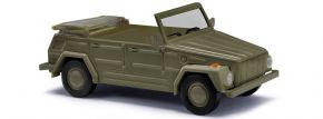 BUSCH 52703 VW 181 Kurierwagen olivgrün Militärmodell 1:87 kaufen