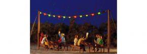 BUSCH 5408 Sommernachtsparty bunte Lichterkette Fertigmodell 1:87