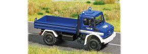 BUSCH 5590 Mercedes-Benz Unimog U5023  THW mit Blinkschaltung Blaulichtmodell 1:87 kaufen