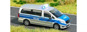 BUSCH 5597 Mercedes-Benz V-Klasse Polizei mit Blinkelektronik Fertigmodell 1:87 kaufen