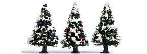 BUSCH 6464 Weihnachtsbäume verschneit mit Kugeln Spur  H0 kaufen