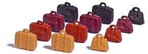 BUSCH 7795 M-Set  Koffer und Taschen 12 Stück Fertigmodell H0 kaufen
