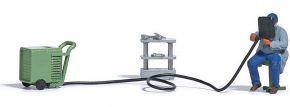 BUSCH 7810 Elektroschweißgerät mit Figur | Spur H0 1:87 kaufen