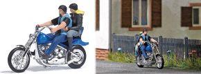 BUSCH 7860 Action Set US Motorrad mit Bikerpärchen Fertigmodell Spur H0 kaufen
