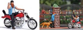 BUSCH 7861 Action Set US Motorrad mit Biker Fertigmodell Spur H0 kaufen