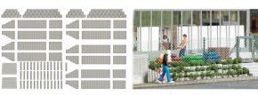 BUSCH 7872 Pflanzsteine und Palisaden grau Bausatz 1:87
