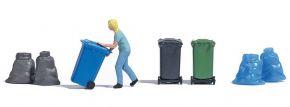BUSCH 7874 Action Set Frau mit Mülltonne Fertigmodell Spur H0 kaufen