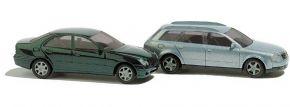 BUSCH 8346 Audi A4 Avant und Mercedes-Benz C-Klasse Limousine metallic 2 Stück Spur N kaufen