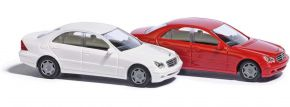 BUSCH 89135 Mercedes-Benz C-Klasse Limousine W203 rot Automodell 1:87 kaufen