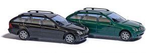 BUSCH 89136 Mercedes-Benz C-Klasse T-Modell S203 schwarz Automodell 1:87 kaufen