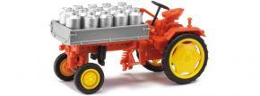 BUSCH 210005001 Traktor RS09 Pritsche mit Milchkannen | Landwirtschaftsmodell 1:87 kaufen