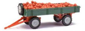 BUSCH 210010220 Anhänger T4 mit Äpfeln, grün | Landwirtschaftsmodell 1:87 kaufen