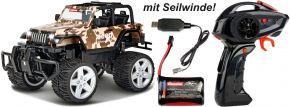 Carrera 162122 Jeep Wrangler Rubicon, camouflage RC-Auto |  RTR | 2,4GHz | 1:16 kaufen