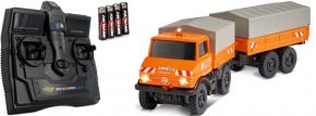 CARSON 500504140 Unimog U406 mit Anhänger Kommunal 2.4GHz | RC Auto 1:87 Spur H0 kaufen