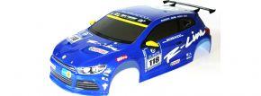 CARSON 500800051 Karosserie lackiert VW Scirocco blau   CV-10   für RC Autos 1:10 kaufen