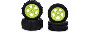 CARSON 500900155 2WD Paddle Reifenset | neongelb | 4 Stück | 1:10 kaufen