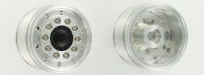 CARSON 500907159 Alu Vorderradfelge breit rundloch | 2 Stück | RC LKW Zubehör 1:14 kaufen