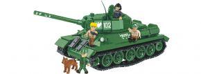 COBI 2486A T34/85 Rudy mit Panzercrew + Hund | Panzer Baukasten kaufen