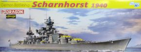 DRAGON 1062 German Battleship Scharnhorst 1940 | Schiff Bausatz 1:350