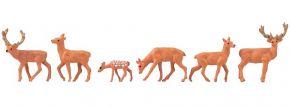 FALLER 151907 Rotwild | 6 Stück | Figuren Spur H0 kaufen
