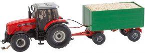 FALLER 161588 MF Traktor mit Hackschnitzelhänger | Car System Spur H0 kaufen